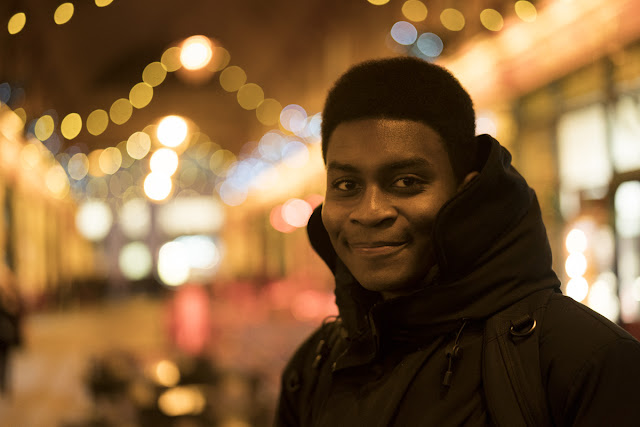 Portrait Ron Timehin - Leadenhall Market - Christmas Lights Photo tips and techniques - Ashley Laurence