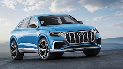 Audi Q8 SUV Concept Blue photos
