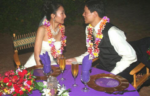 Vow Renewal and Beach Dinner