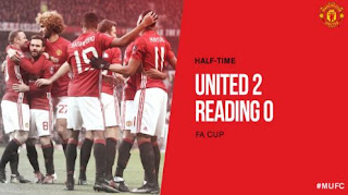 Manchester United vs Reading 2-0 Babak Pertama