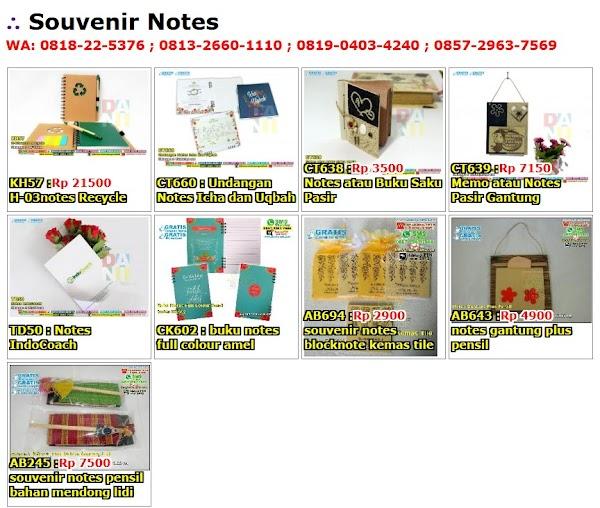 Daftar Harga Souvenir Notes
