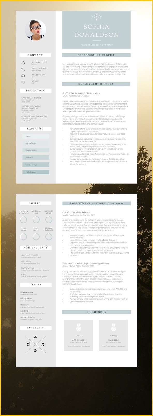 Free Modern Resume Templates Microsoft Word Modern