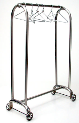 miniature garment rack with hangers