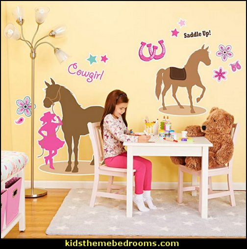 Western Cowgirl Party Decorations - Giant Vinyl Wall Decal