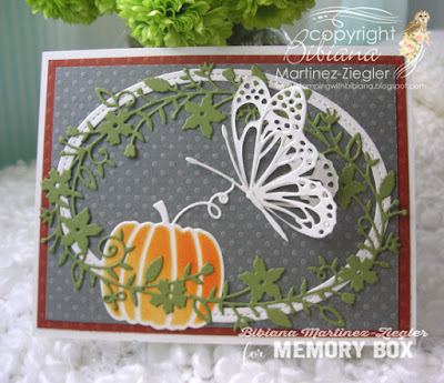 Fall butterfly card front