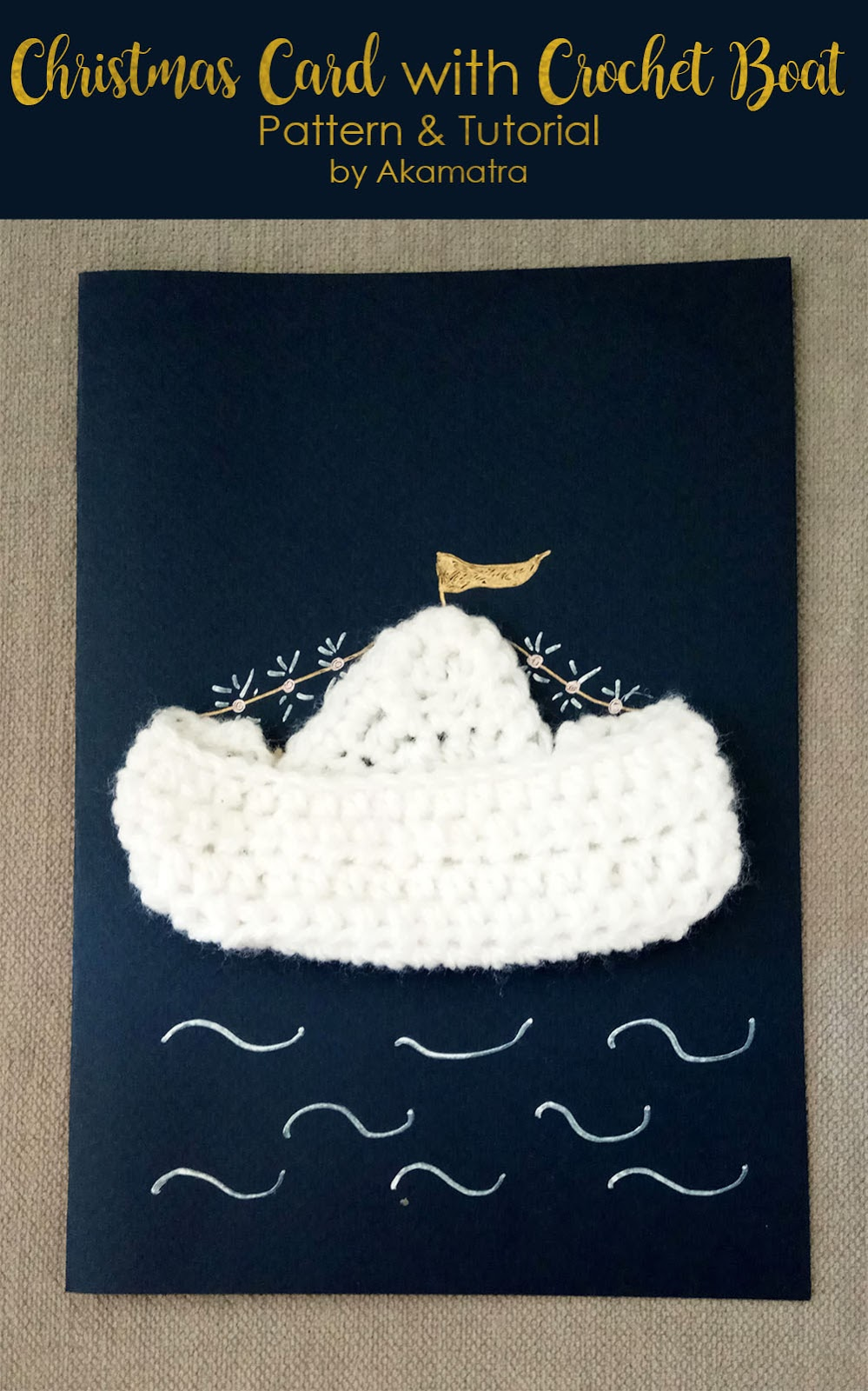 Diy christmas card with crochet boat free pattern and tutorial i am super happy to be part of an awesome group of italian and greek bloggers that teamed up to bring you an e book filled with tutorials to make your own dt1010fo