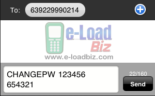 e-loadbiz,loadcentral, how to change Loadcentral SMS Password