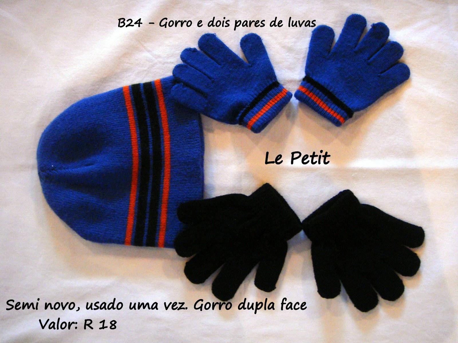 59fc6443fba27 Le Petit  Aproveita o frio!!! Luvas e Toucas - Menino!