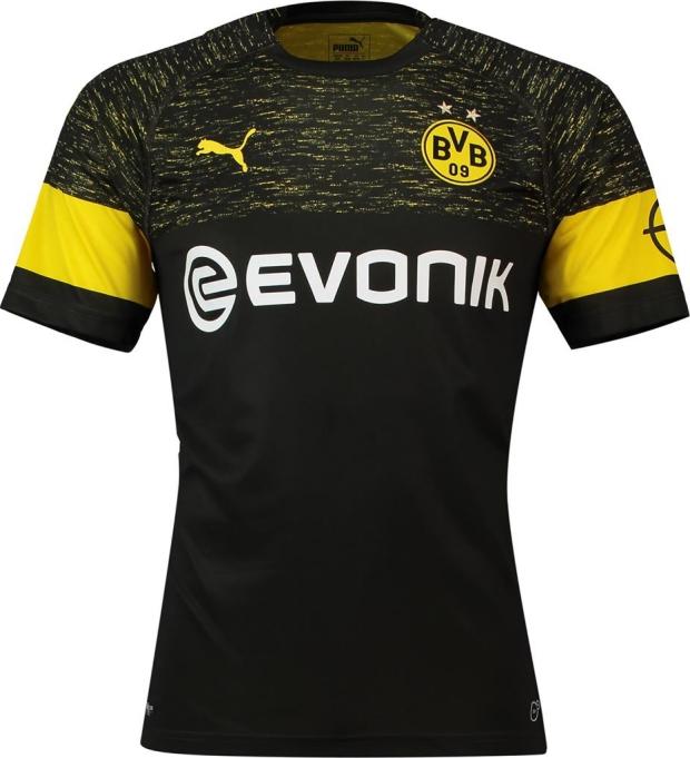 2e71b9ae76 A Puma divulgou o novo uniforme reserva que o Borussia Dortmund usará na  temporada 2018 19 do Campeonato Alemão de futebol ( Bundesliga ).