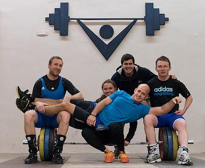 Markus, Fiona, Pascal, Sebastian und Marcel nach dem Wettkampf