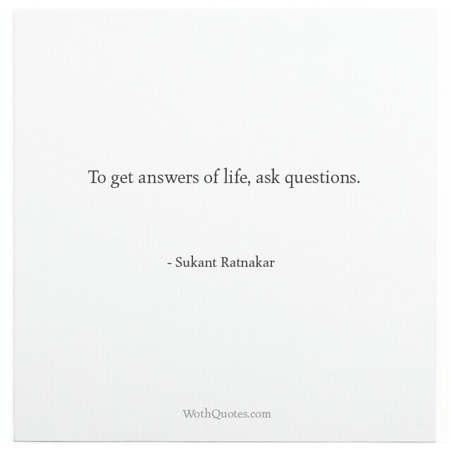 Quotes and Sayings About Questions