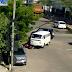Acidente Kombi x moto na rua Baraúna com av. 6