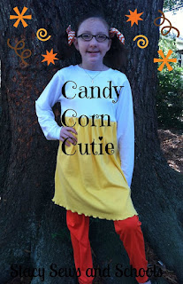 Candy Corn Cutie costume by Stacy Sews and Schools | www.BakingInATornado.com