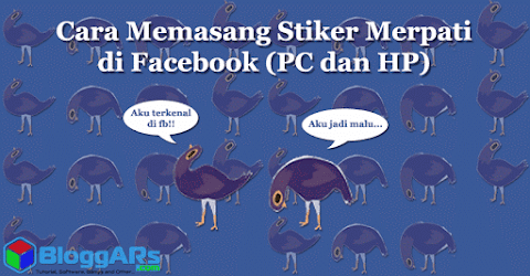 Memasang Stiker Facebook Merpati