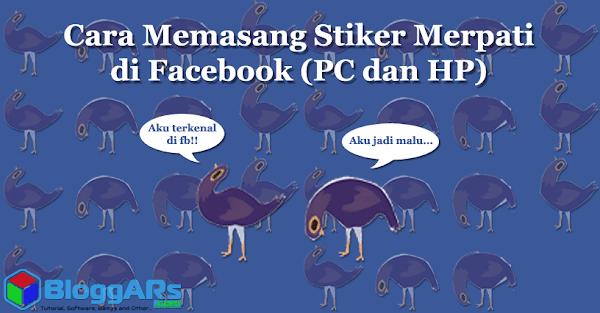 Cara Memasang Stiker di Facebook Spesial Merpati Ungu (PC dan HP)