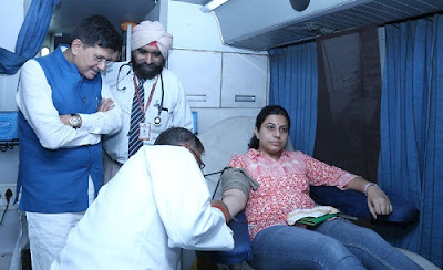 Piyush Goyal, Blood Donation Camp, Union Minister of Power, Coal, New & Renewable Energy, Mines