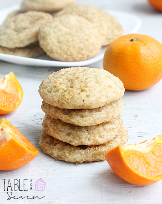 Sugar Rolled Clementine Cookies
