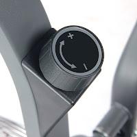 Adjustable tension knob on Sunny Health & Fitness SF-B2640 Air Bike Trainer
