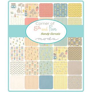 Moda Corner of 5th and Fun Fabric by Sandy Gervais for Moda Fabrics