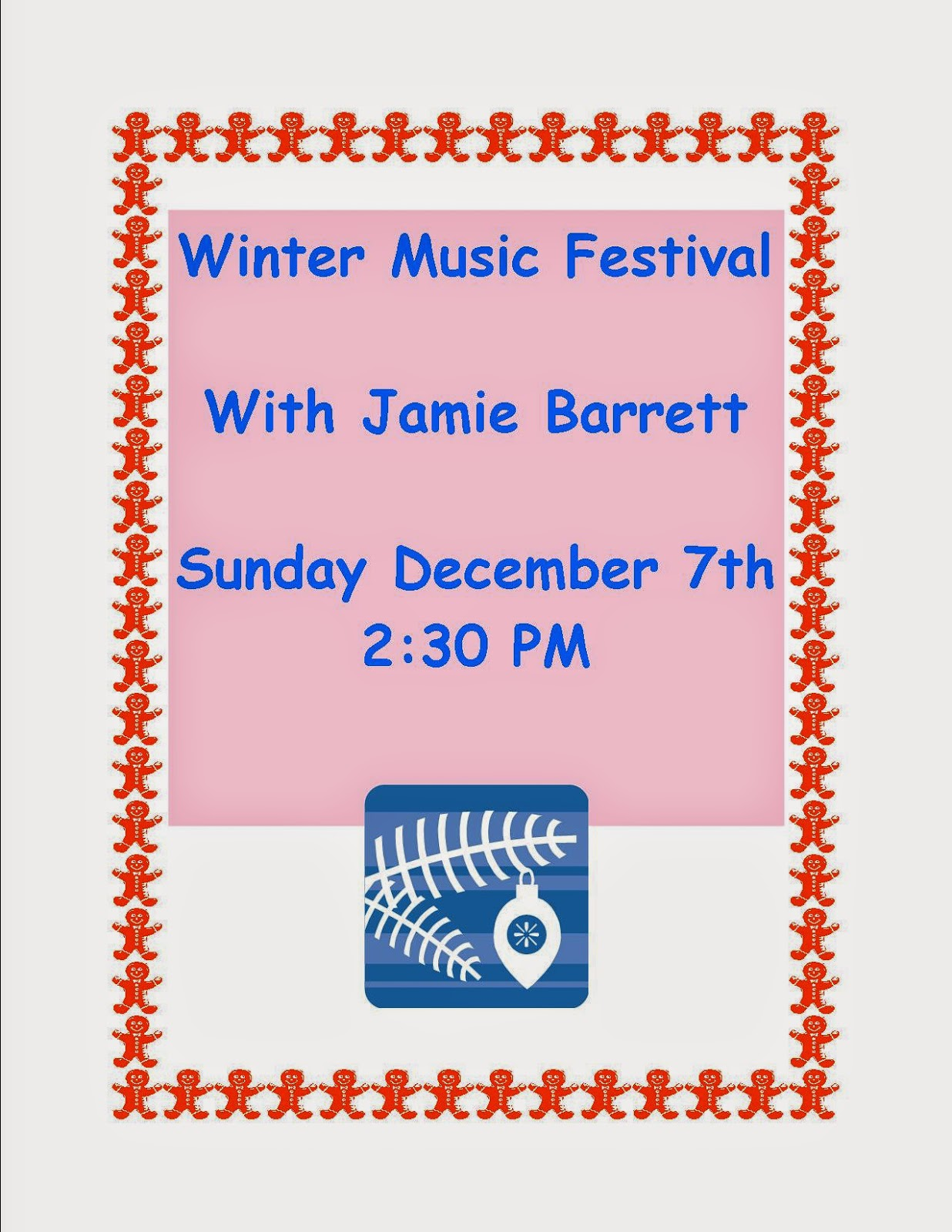 Jamie Barrett - Sun Dec 7 - 2:00 PM