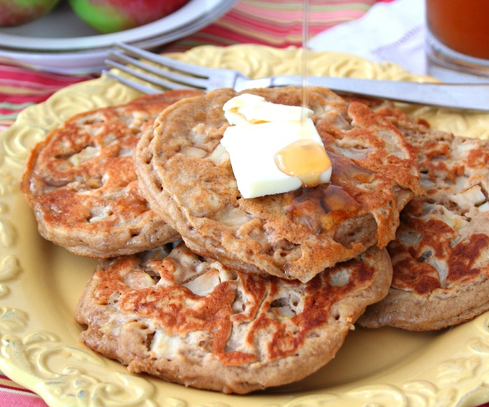 Whole Wheat Apple Cider Pancakes Healthy Breakfast All Day I