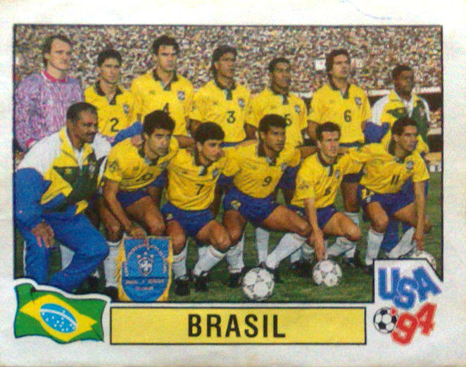 df23a46e618bb Football Cartophilic Info Exchange  Panini - USA 94 (06) - Brazil ...