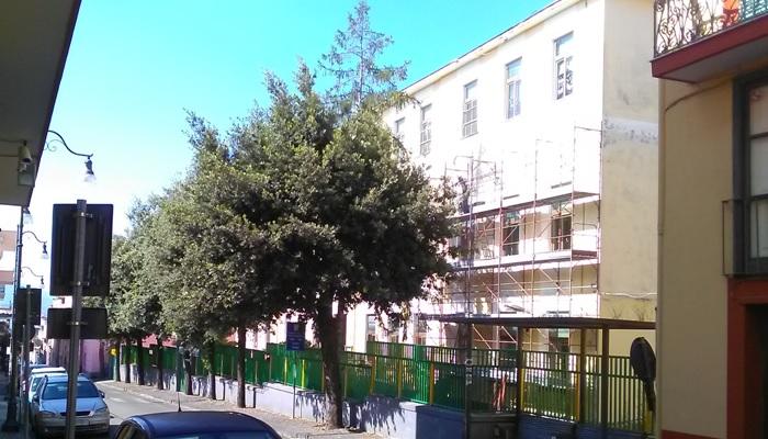 Inizio lavori di ristrutturazione della scuola elementare di Trecase