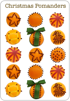 how to make orange pomanders? pomander designs