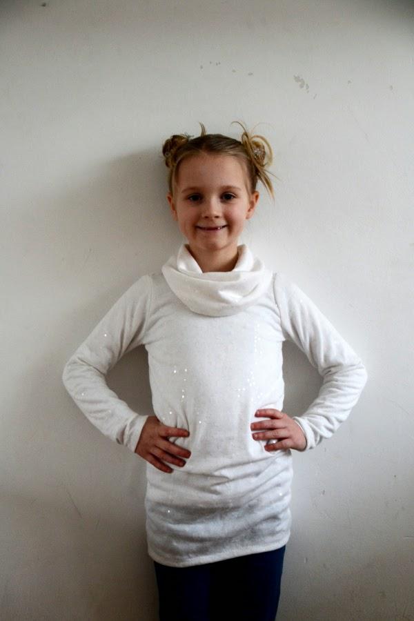 White Glitter Bimaa Tunic - Pienkel.com