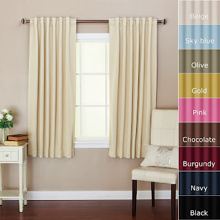 Best Home Fashion Thermal Insulated Blackout Curtains - Back Tab/ Rod Pocket - Beige