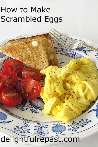 Perfect Scrambled Eggs - Giveaway Le Creuset Nonstick Fry Pan / www.delightfulrepast.com