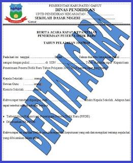 Berita Acara Rapat dan SK Kepanitiaan Penerimaan Peserta Didik Baru (PPDB)