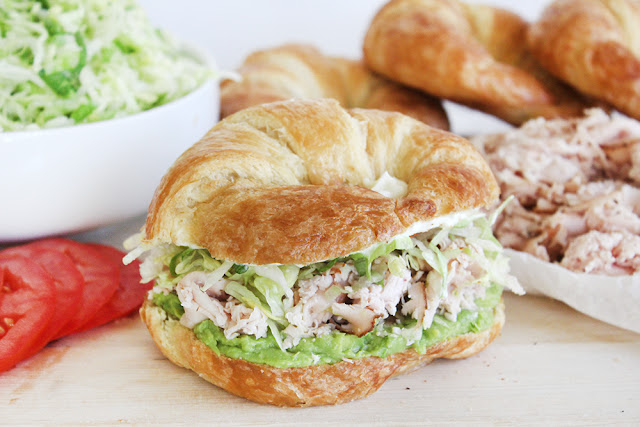 Cajun Turkey Avocado Croissant Sandwich