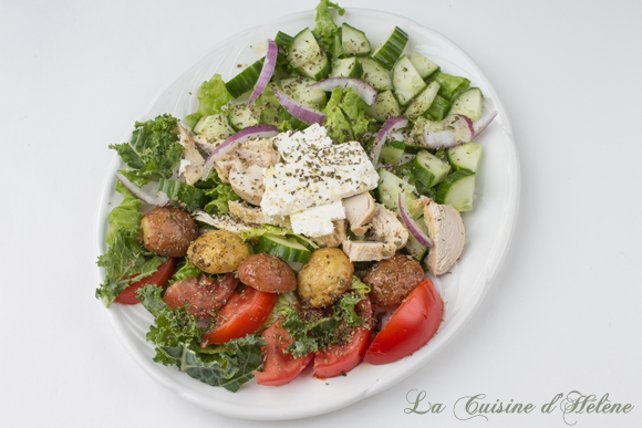 Chicken Greek Salad Recipe - La Cuisine d'Helene