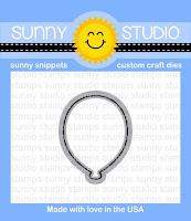 Sunny Studio Stamps: Birthday Balloon Coordinating Die