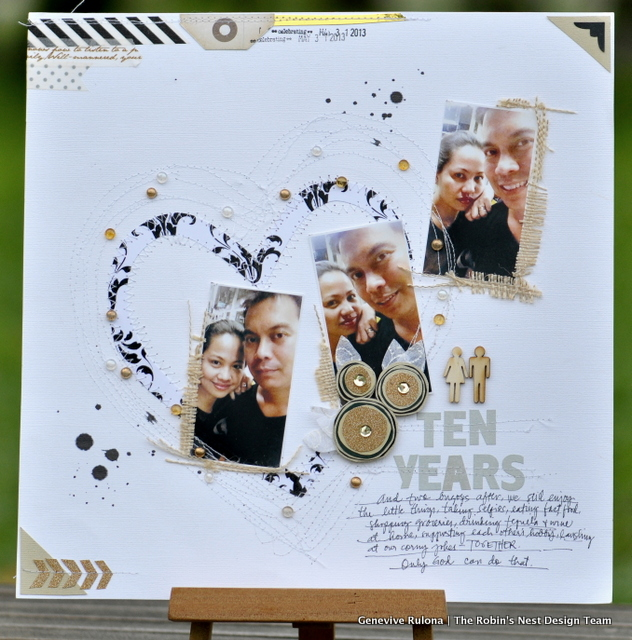 10th Wedding Anniversary Gift For Husband Yay Thank You I Started My Creative Process By Hand Cutting The Black And White Damask Cardstock From