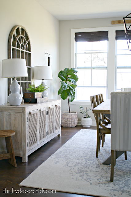 Light and neutral dining space