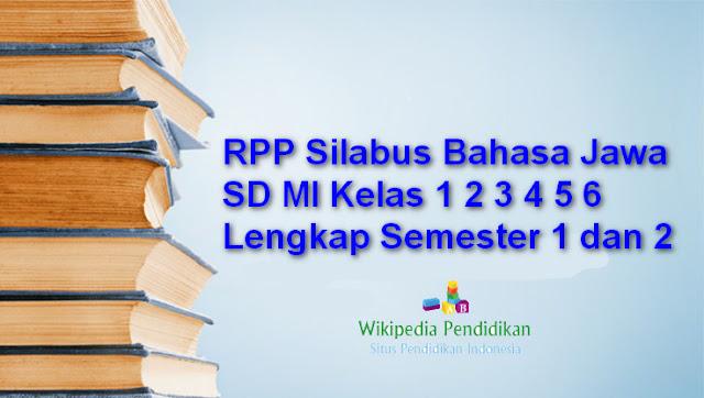 RPP Silabus Bahasa Jawa SD MI Kelas 1 2 3 4 5 6