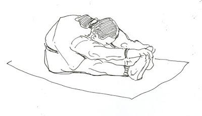 disegno di  posizione yoga