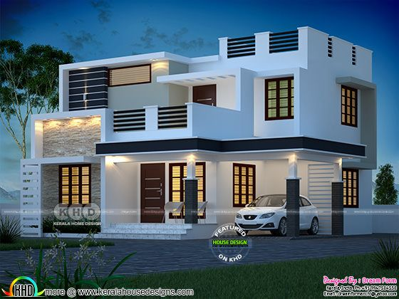 1765 square feet modern box model contemporary house