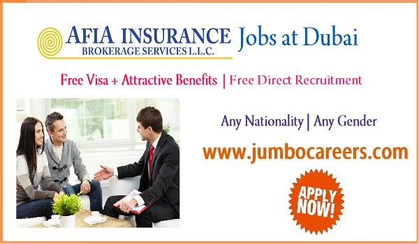Dubai Insurance jobs for Indians, Dubai jobs with salary and benefits,