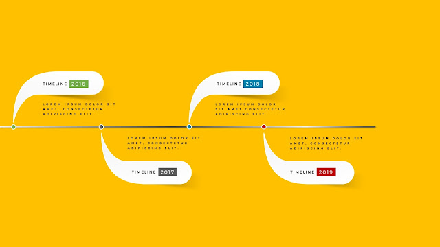 Horizontal timeline for PowerPoint Template Type C Second Slide