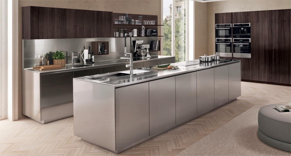 Dise os de cocinas en acero inoxidable colores en casa for Cocinas de acero inoxidable para casa