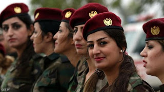 جميلات العراق بالزى العسكرى