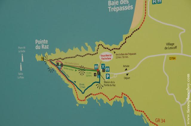 Senderos Punta de Raz Pointe du Raz viaje Bretaña trekking