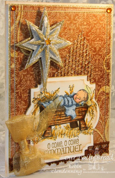 Our Daily Bread Designs, The Babe, Shining Star, Splendorous Star, Flourish Star Pattern, Winter Collection, Designed by Robin Clendenning