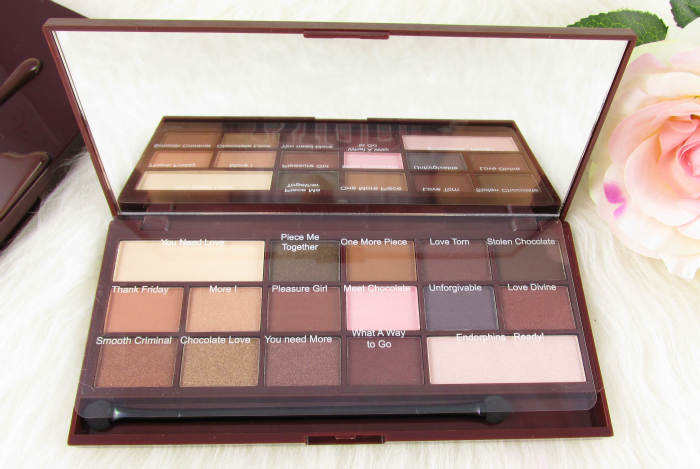 Review & Swatches: I Heart Makeup - I Heart Chocolate Eyeshadow Palette - Nuancen