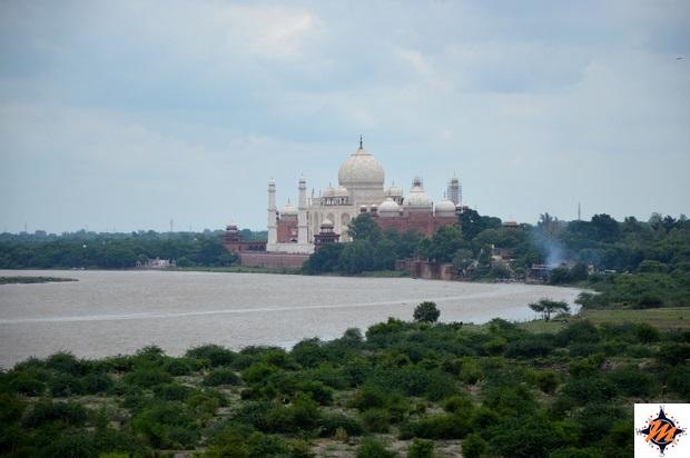Agra, Agra Fort. Vista sul Taj Mahal