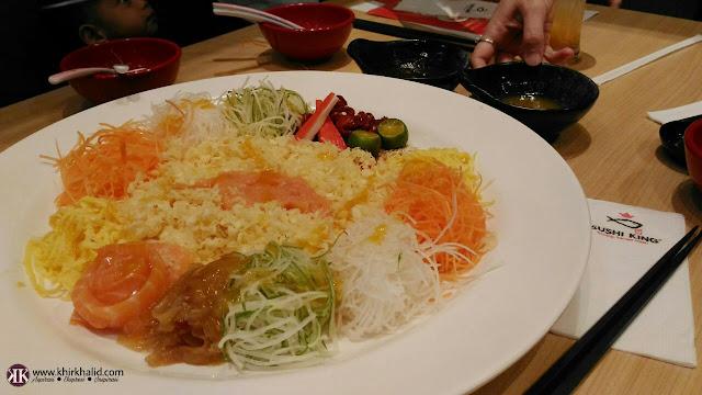Yee Sang CNY, Sushi King Malaysia,