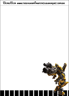 Transformers Kit Completo Com Molduras Para Convites Rótulos Para